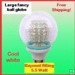 Large fancy ball globe Cool white